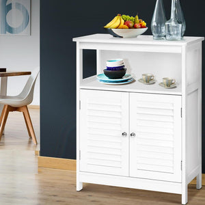Buffet Sideboard Cabinet, Wooden, White