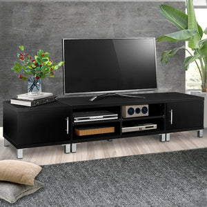 Rosa Lowline TV Unit, Black, 190cm