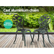 Load image into Gallery viewer, Outdoor Bistro Set, 2 Seater, Aluminium, Bronze