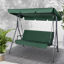 Load image into Gallery viewer, Outdoor Swing Chair, 3 Seater, Green