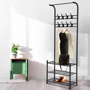 Clothes Rack & Shoe Cabinet, Metal