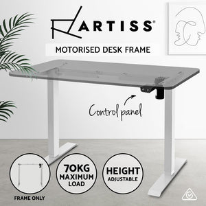 Motorised Standing Desk White Frame, Adjustable, White