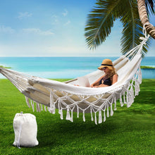 Load image into Gallery viewer, Hammock Swing Bed, Tassel, Cream