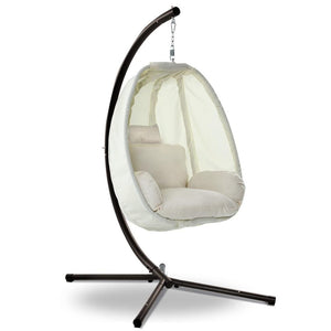 Gardeon Outdoor Furniture Egg Hammock Porch Hanging Pod Swing Chair with Stand
