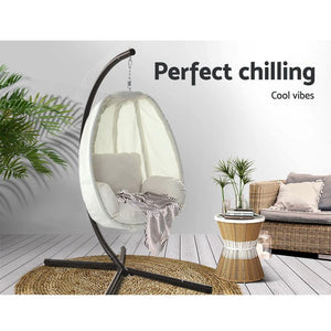 Hanging Egg Chair, Cream