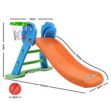 Load image into Gallery viewer, Kid's Slide with Basketball Hoop & Ladder Base