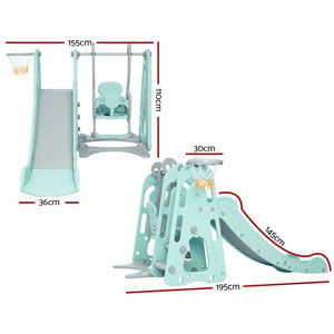 Kids' Play Center, Slide & Swing, Green