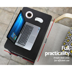 Laptop Stand Desk, Portable, Black, 60cm