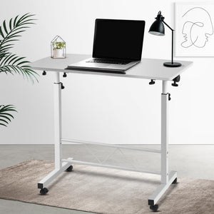 Laptop Stand Desk, Portable, White, 80cm