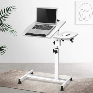 Rotating Mobile Laptop Adjustable Desk, White