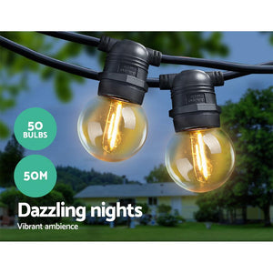 G45 LED Festoon Bulbs, Multi-Colour, 50m
