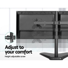 Load image into Gallery viewer, Dual Monitor Arm, Fully Adjustable, Freestanding, Black