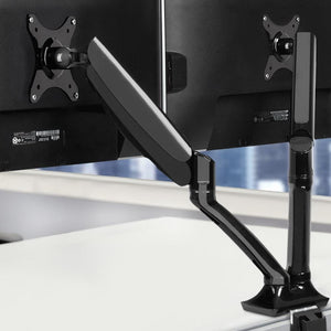 Dual Monitor Arm Stand, Fully Adjustable, Black