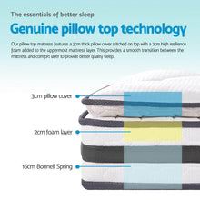 Load image into Gallery viewer, Pillow Top Mattress, Memory Foam, Single