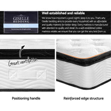 Load image into Gallery viewer, Pillow Top Pocket Spring Mattress, Latex, King Single