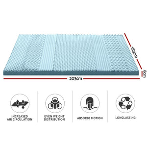 Mattress Topper, 7 Zone, Memory Foam, Cool Gel, Bamboo, King