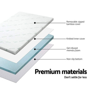 Memory Foam Mattress Topper, Cool Gel, Queen