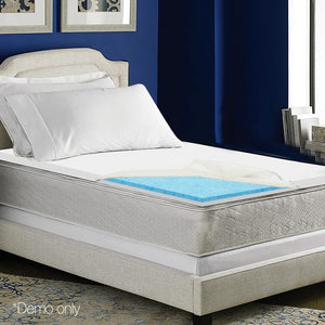 Memory Foam Mattress Topper, Dual Layer, Single