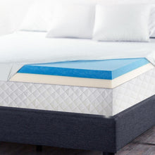 Load image into Gallery viewer, Giselle Bedding Single Size Dual Layer Cool Gel Memory Foam Topper