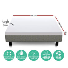 Load image into Gallery viewer, Memory Foam Mattress Topper, Dual Layer, Cool Gel, Single