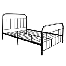 Load image into Gallery viewer, Artiss Double Size Metal Bed Frame - Black