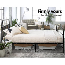 Load image into Gallery viewer, Bed Frame, Metal, Black, Double