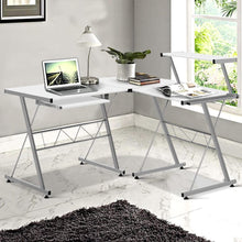 Load image into Gallery viewer, Adjustable Corner Desk, White