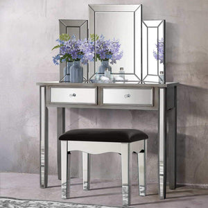 Dressing Table & Stool Set, Smokey Grey