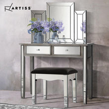 Load image into Gallery viewer, Dressing Table & Stool Set, Smokey Grey