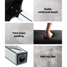 Load image into Gallery viewer, Dressing Stool, Leather, Silver