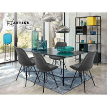 Load image into Gallery viewer, Eames DSW Dining Chairs, Velvet, Light Grey (Set of 2)
