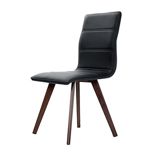 Lavina Dining Chairs, Leather, Black (Set of 2)