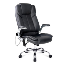 Load image into Gallery viewer, 8 Point PU Leather Massage Chair - Black