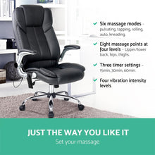 Load image into Gallery viewer, Office Massage Chair, 8 Point, Black