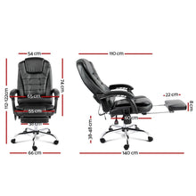Load image into Gallery viewer, Office Massage Chair & Footrest, 8 Point, Black