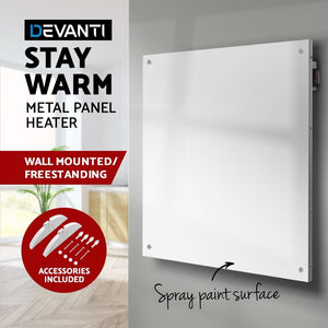 Panel Heater, Wall Mount, Slimline, White, 450w