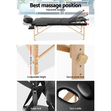 Load image into Gallery viewer, Portable Massage Chair, Wooden, Black, 60mm