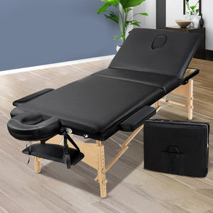 Portable Massage Chair, Wooden, Black, 60mm