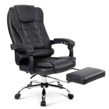 Load image into Gallery viewer, PU Leather Reclining Chair with Footrest - Black