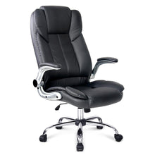Load image into Gallery viewer, PU Leather Executive Office Desk Chair - Black