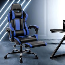 Load image into Gallery viewer, Linden Gaming Chair, Black & Blue