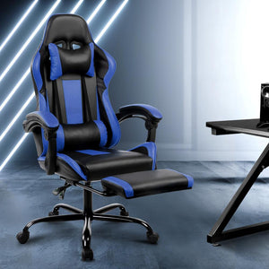 Linden Gaming Chair, Black & Blue