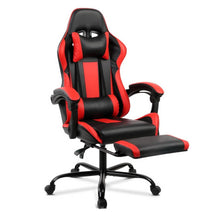 Load image into Gallery viewer, Gaming Office Chair Computer Seating Racer Black and Red