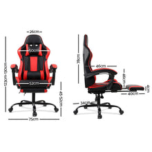 Load image into Gallery viewer, Linden Gaming Chair, Black & Red