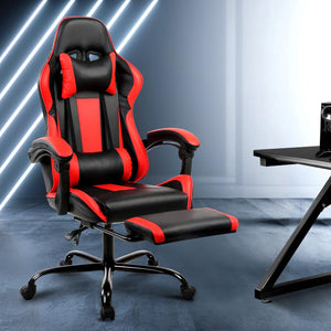 Linden Gaming Chair, Black & Red