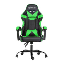Load image into Gallery viewer, Artiss Office Chair Gaming Chair Computer Chairs Recliner PU Leather Seat Armrest Black Green