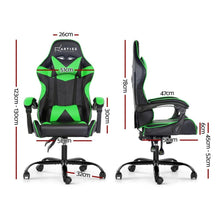Load image into Gallery viewer, Linden Adjustable Office Chair, Black & Green