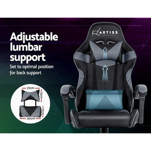 Linden Adjustable Office Chair, Black & Grey