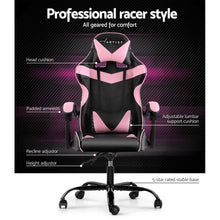 Load image into Gallery viewer, Linden Adjustable Office Chair, Black & Pink