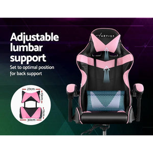 Linden Adjustable Office Chair, Black & Pink